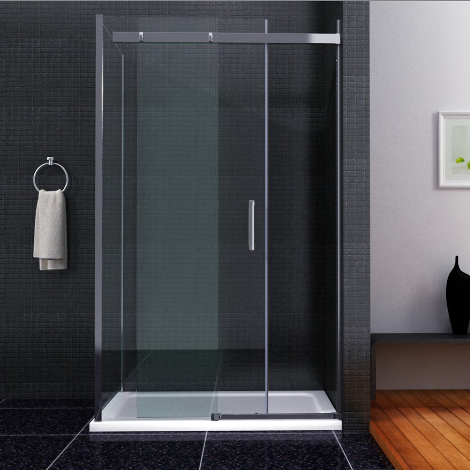 Bathroom shower sliding doors - 1000x700mm Sliding Door Shower Enclosure Cubicle Stone Tray