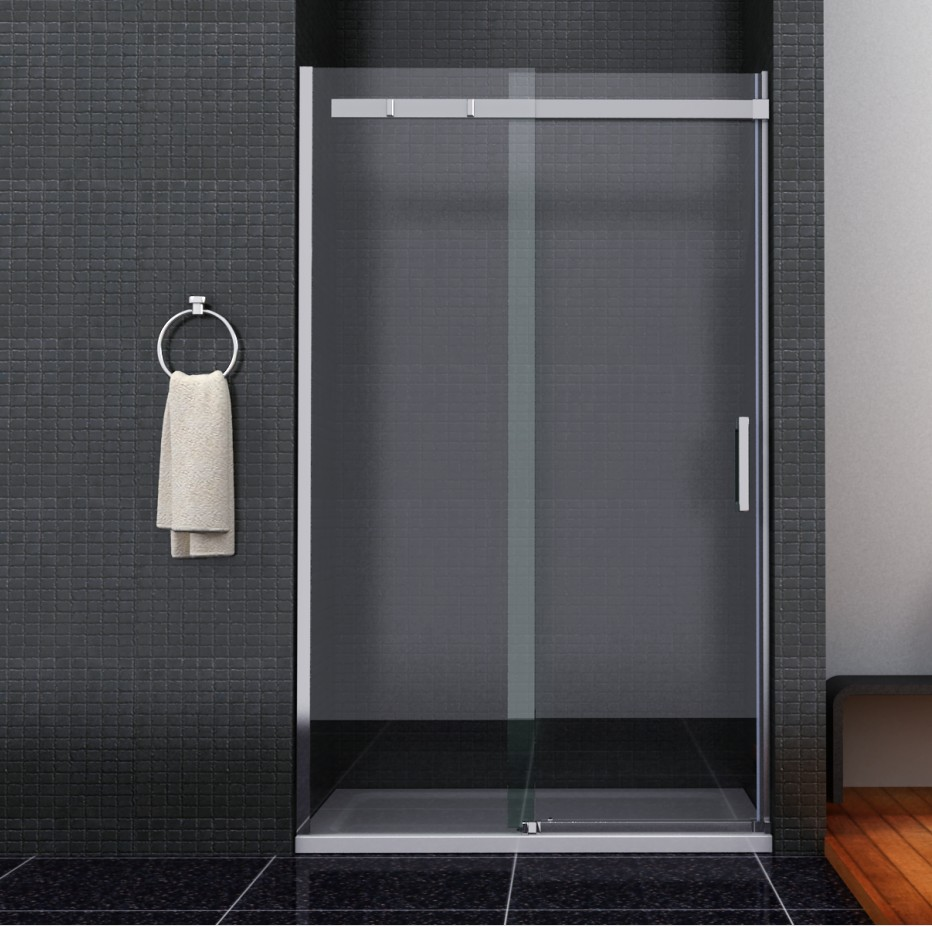 Bathroom sliding door shower enclosure screen cubicle side Sliding glass shower doors