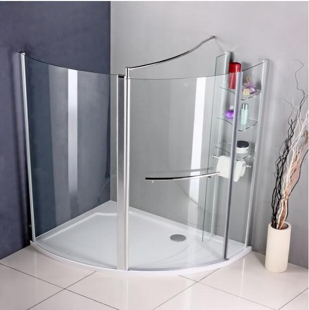 Chrome Walk In Pivot Shower Enclosure Wet Room Screen