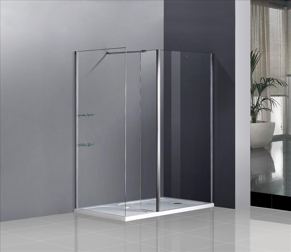 Walk In Sliding Shower Enclosure Glass Door Side Panel