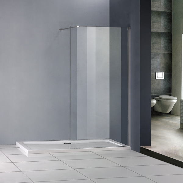 1400x700mm Shower Enclosure Walk In Wet Room Easyclean