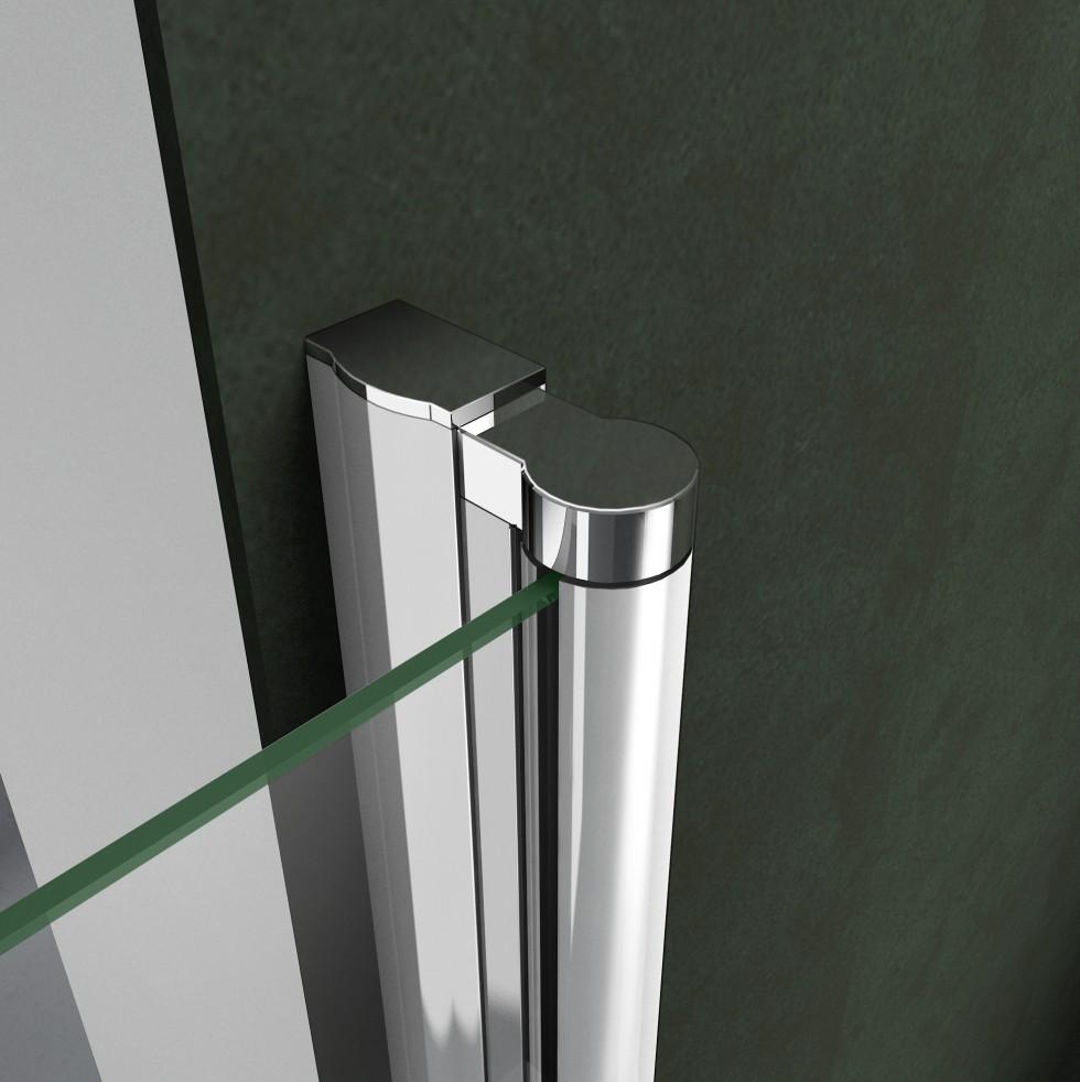 frameless frame shower enclosure pivot door hinges cubicle glass screen bathroom ebay