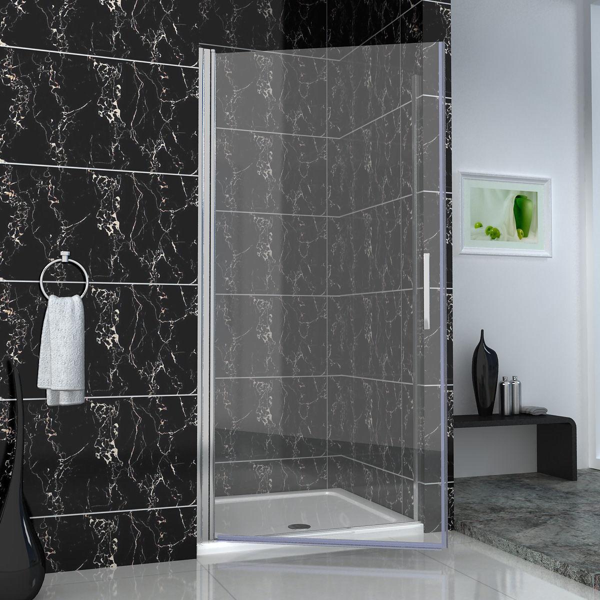 Chrome frameless pivot shower door walk in glass screen for 1000mm frameless shower door