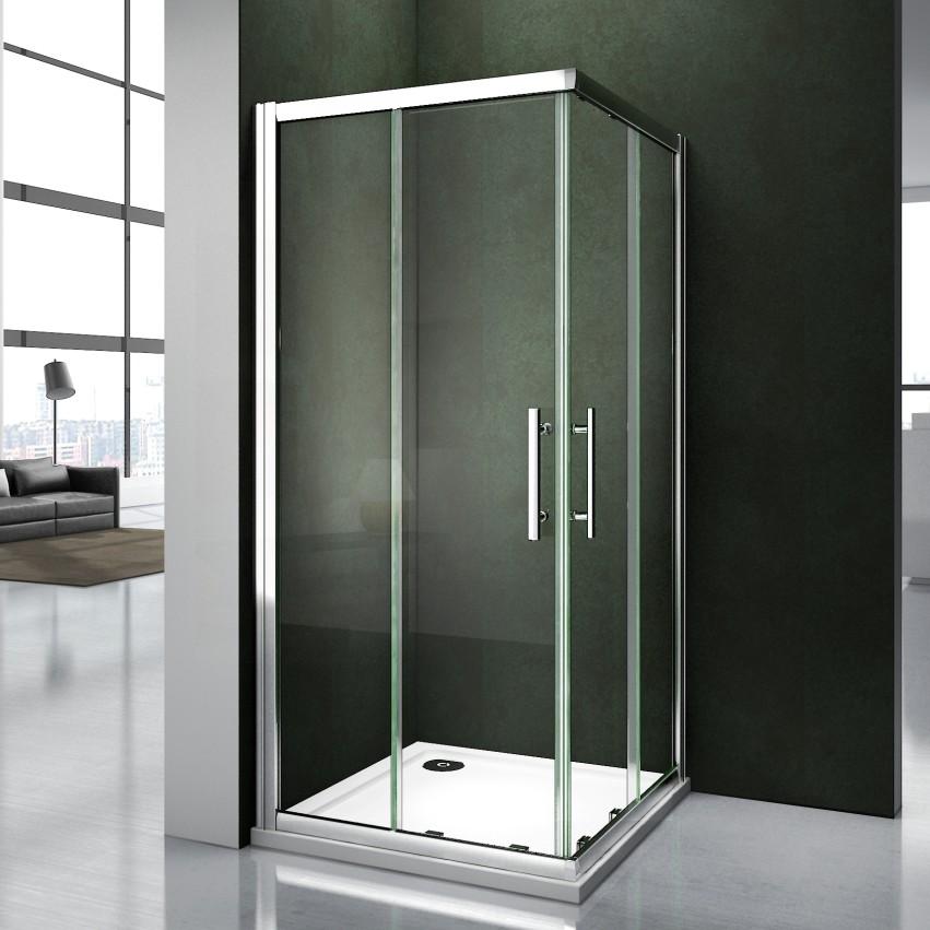 Bathroom shower enclosure corner entry shower door walk in glass cubicle screen ebay - Walk in glass shower enclosures ...