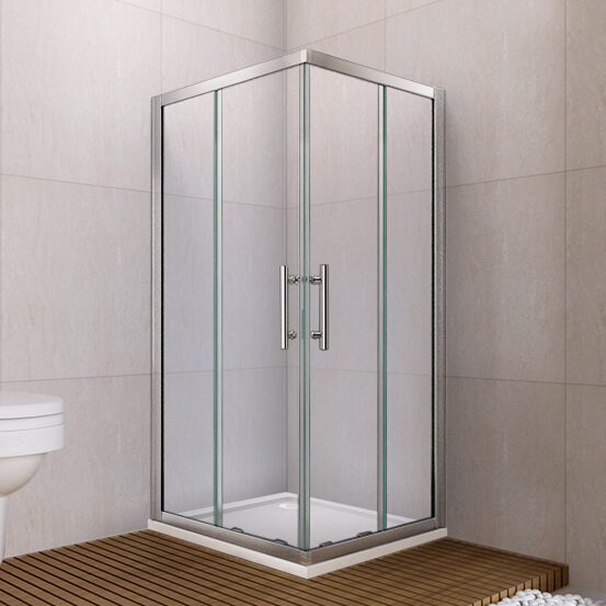 800x800mm sliding door shower enclosure walk in corner for Corner sliding glass doors