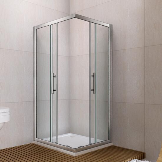 760x760mm Walk In Shower Enclosure Double Sliding Door