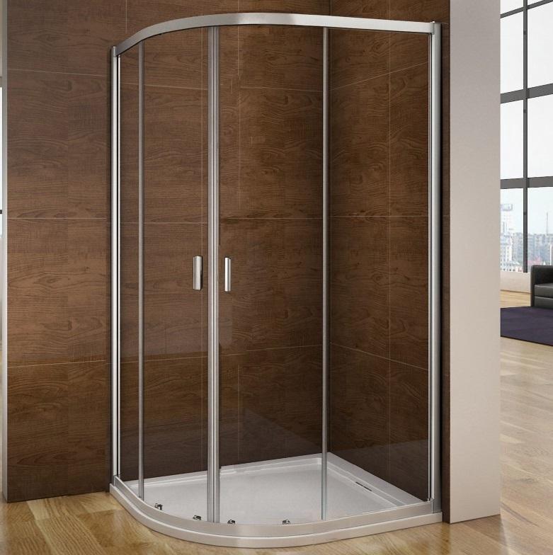 Aica Quadrant Sliding Corner Entry Shower Enclosure Glass