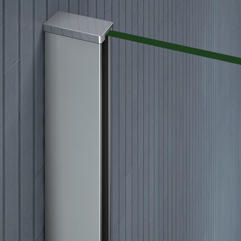 Aica tempered glass over bath shower screen wide door for 10 panel glass door