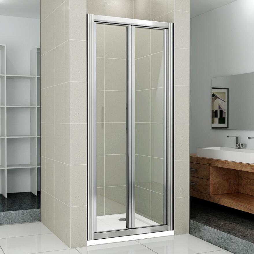 Bi fold pivot quadrant sliding shower door 6mm glass for Bi fold screen doors