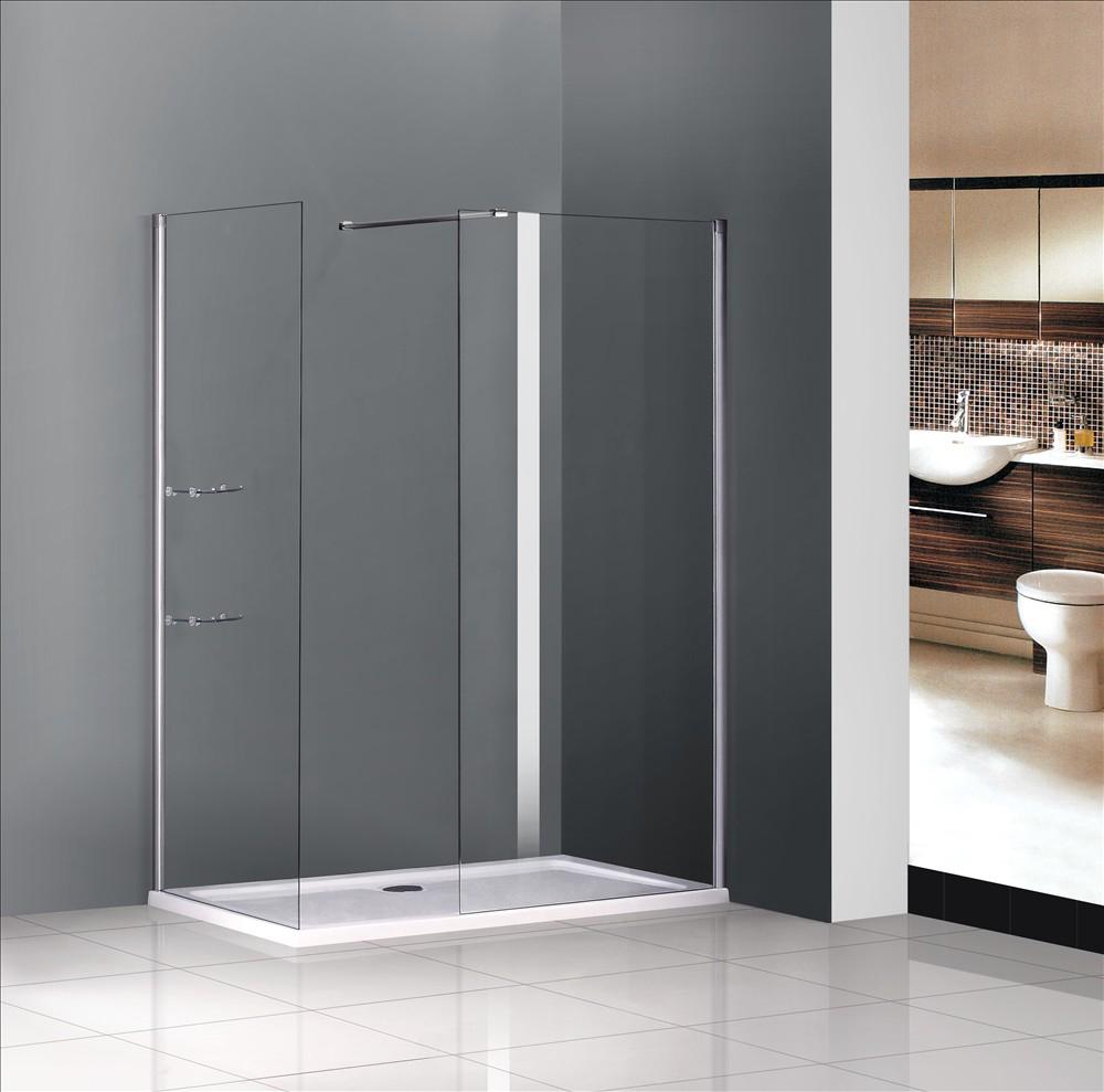 1400x760mm bathroom walk in shower enclosure wet room door for Wet room shower screen 400mm