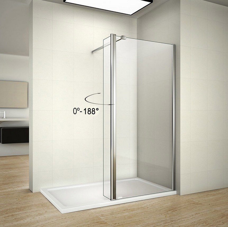 Wet Room Shower Screens With Hinged Return