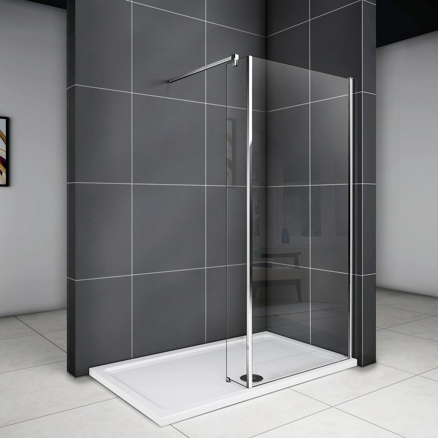 walk in dusche duschabtrennung duschwand duschkabine mit nanobeschichtung wa 205 ebay. Black Bedroom Furniture Sets. Home Design Ideas
