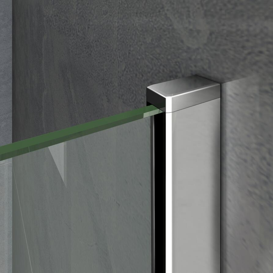 Luxury 1000x1400mm 3 Fold Folding Bath Shower Screen