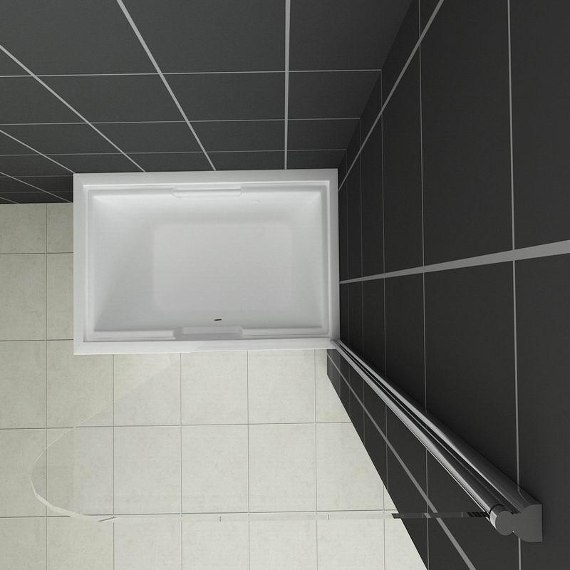 800X1400mm Chrome 180 Pivot Bath Shower Screen Glass Door Panel