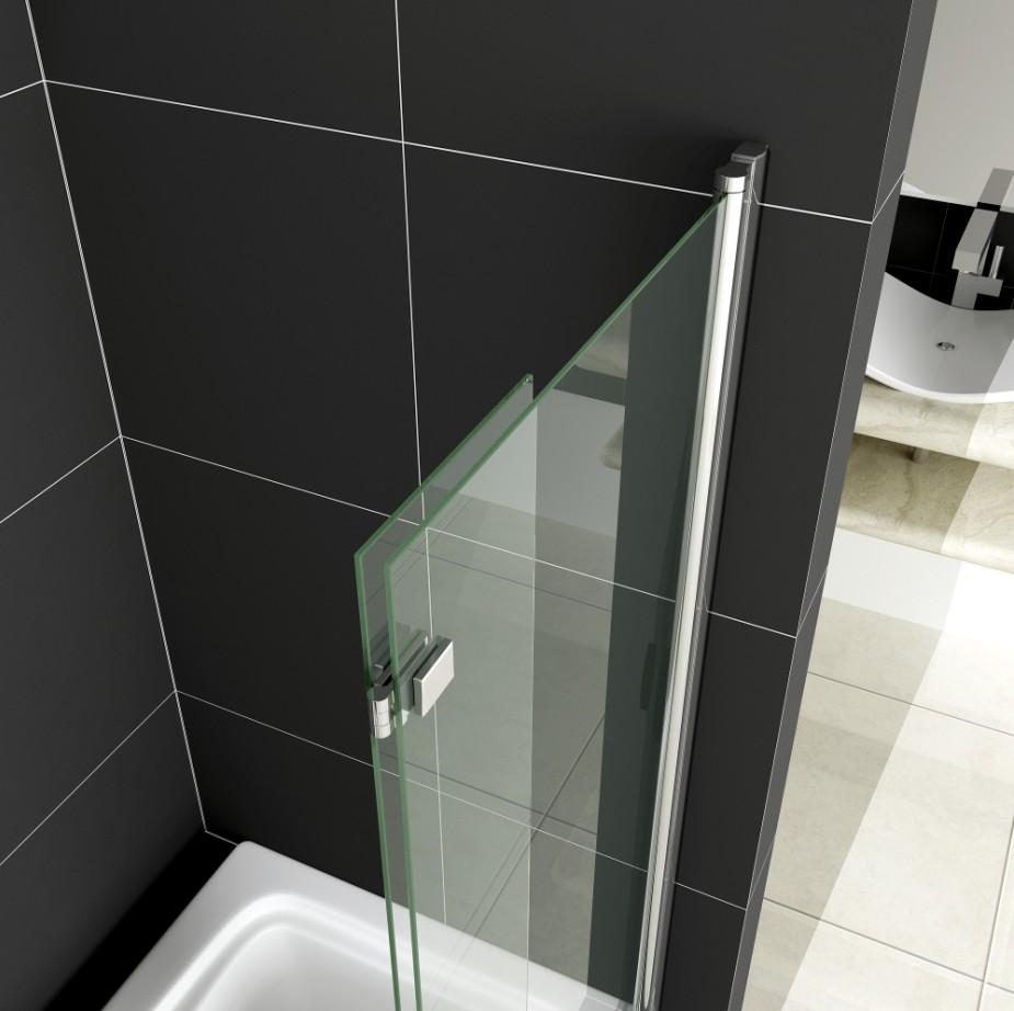 950 X 1400mm Chrome Pivot Hinge Bath Shower Screen Bathroom Glass Door Panel