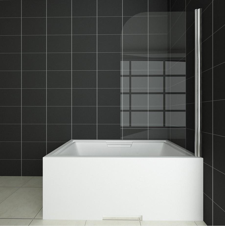 badewanne duschwand 180 trennwand duschabtrennung 80x140cm. Black Bedroom Furniture Sets. Home Design Ideas