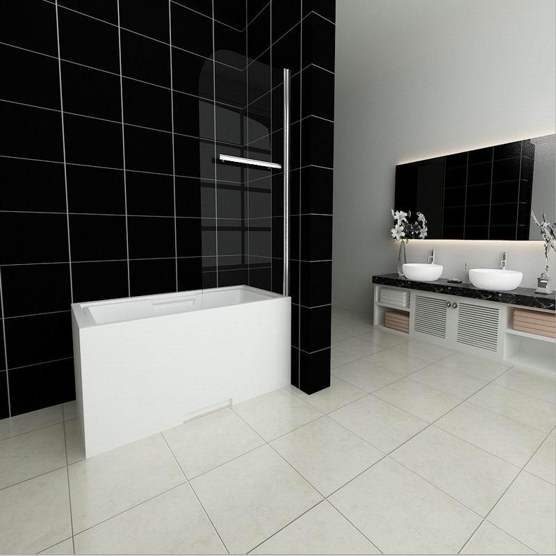 Pivot Shower Bath Screen Glass Door Panels Aica Bathrooms