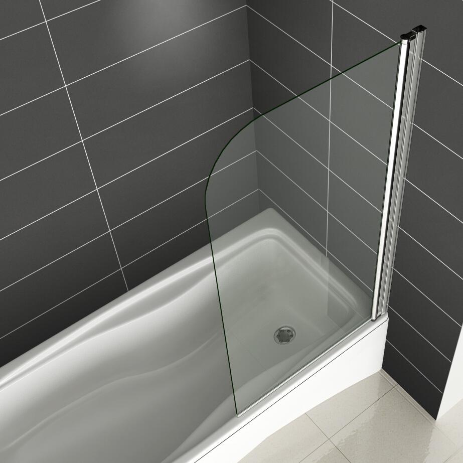 bathroom 180 176 pivot hinge folding bath shower screen over simple luxury 6mm clear glass over bath shower screen