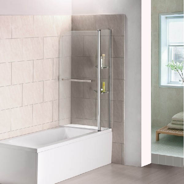 Chrome 180 176 Pivot Bath Shower Screen 1000x1500mm Glass