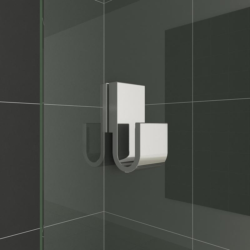 850 X 1500mm Chrome Pivot Hinge Bath Shower Screen Bathroom Glass Door Panel