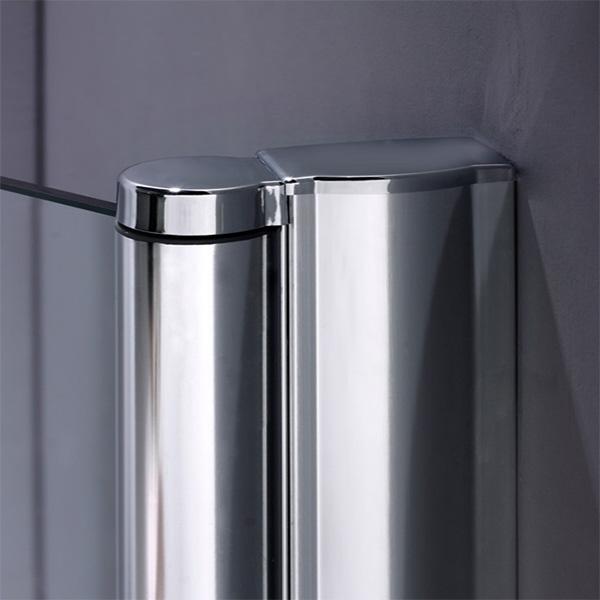 800x1400mm 180 Pivot 6mm Tempered Glass Over Bath Screen Shower Door Panel A