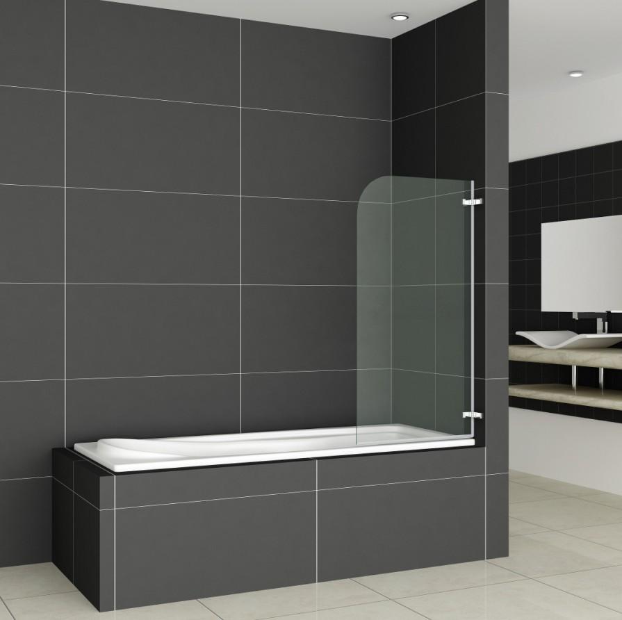 Chrome Pivot Hinge Bath Shower Screen Bathroom Single