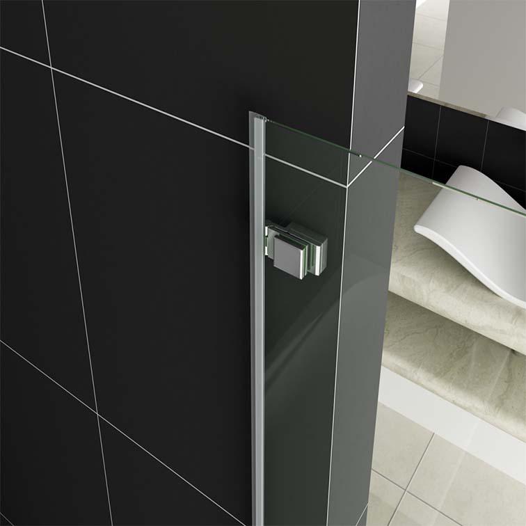 750 X 1400mm Chrome Pivot Hinge Bath Shower Screen Bathroom Glass Door Panel