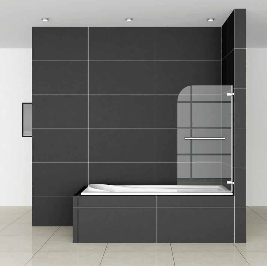 75x140cm badewanne aufsatz dusche scharnier dreht r trennwand duschabtrennung ebay. Black Bedroom Furniture Sets. Home Design Ideas