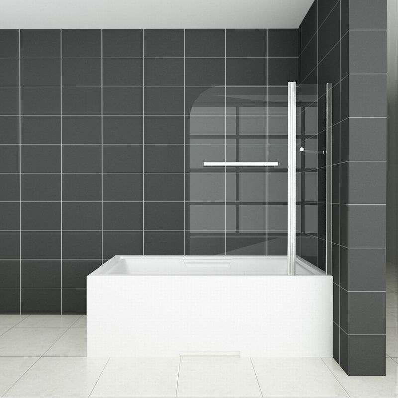 Aica Pivot/Hinge/Folding Screen Over Bath Shower Door