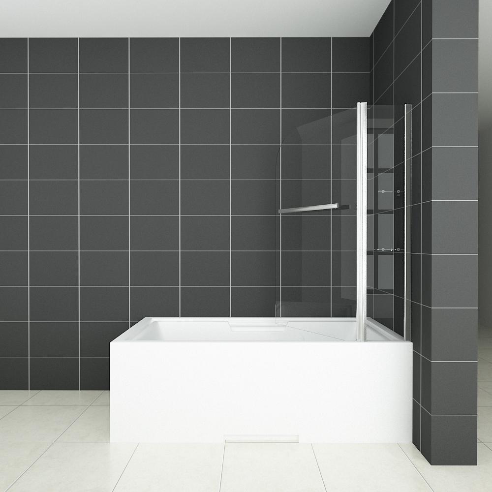 New Aica 180 176 Pivot Over Bath Shower Screen Tempered Glass Door Panel Amp Seasl 1400 Ebay