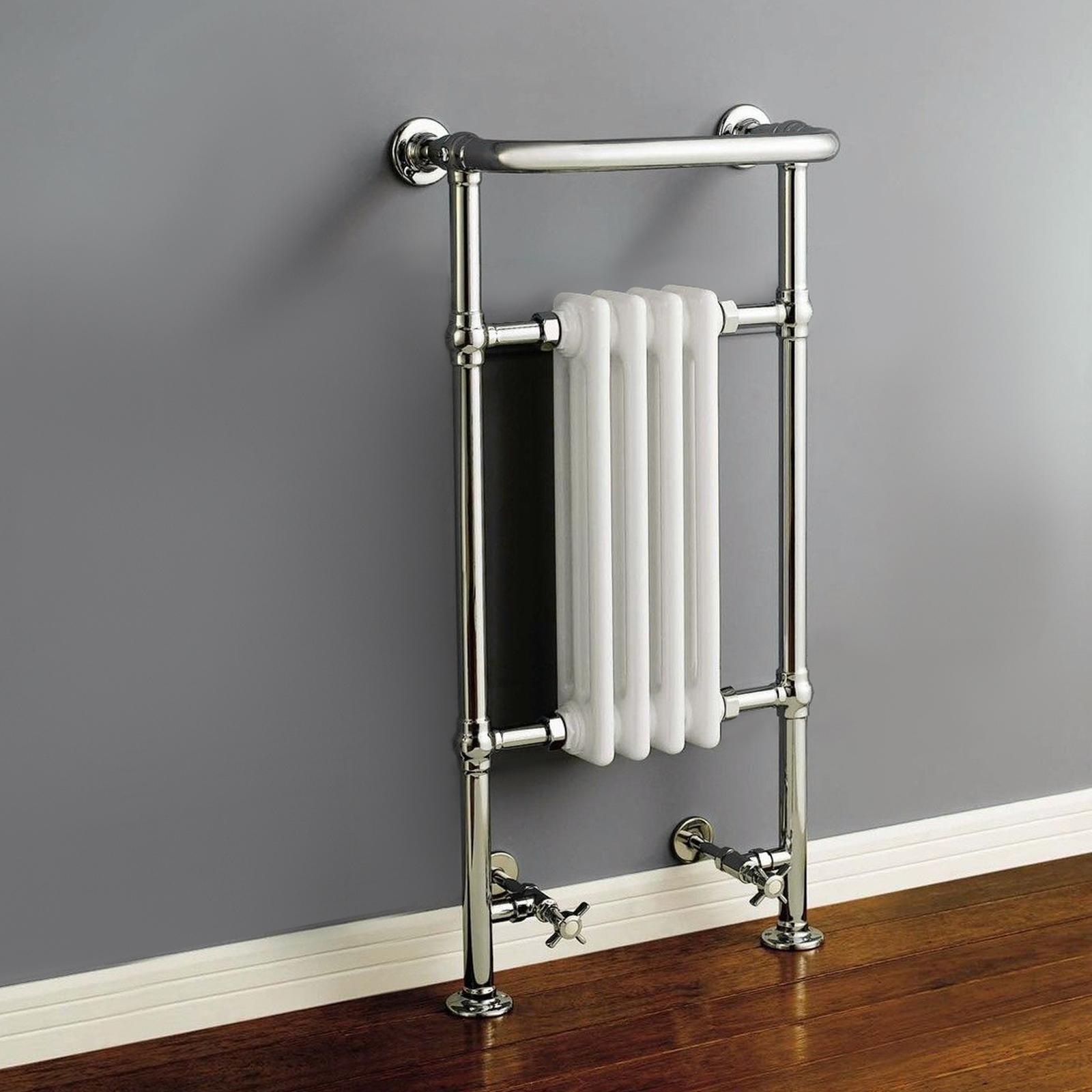 Traditional Victorian Chrome Bathroom Heated Towel Rail