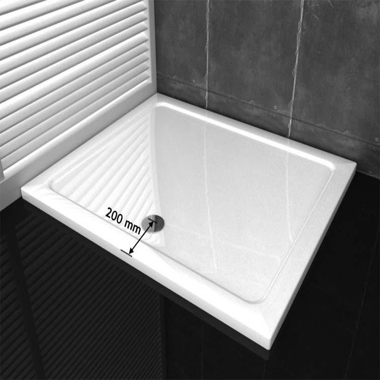 Bathroom 40mm Slimline Square Rectangle Shower Enclosure