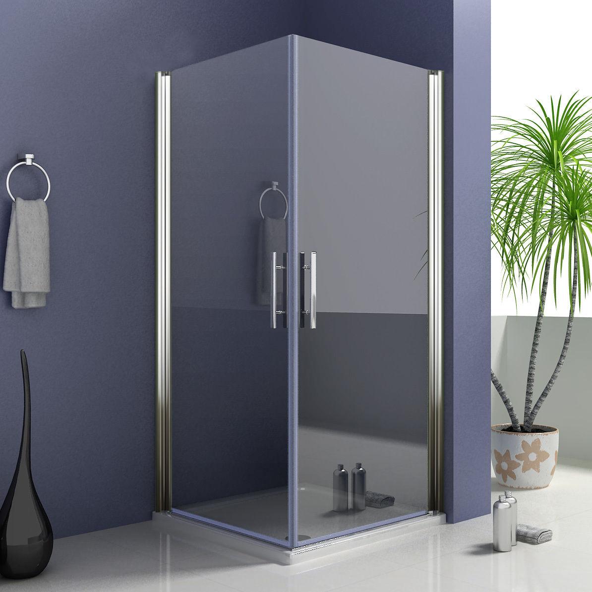 Duschkabine Eckeinstieg Duschabtrennung Schwingtür Drehtür 6mm NANO ESG Glas