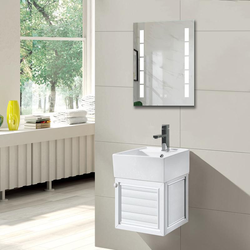 Badmbel Set 40cm Waschtisch mit Unterschrank LED piegel Wei f¨¹r Gste WC LOFT   eBay