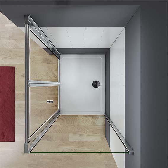 Framed Bifold Shower Door Enclosure 5mm Glass Wetroom