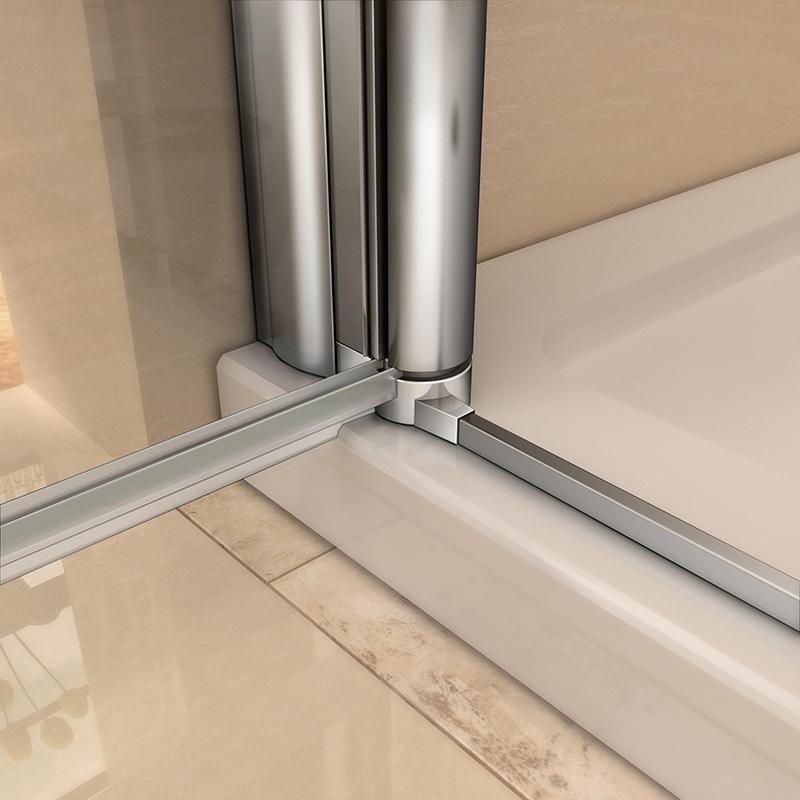 Frameless pivot bifold shower enclosure door glass screen for 1000mm pivot shower door