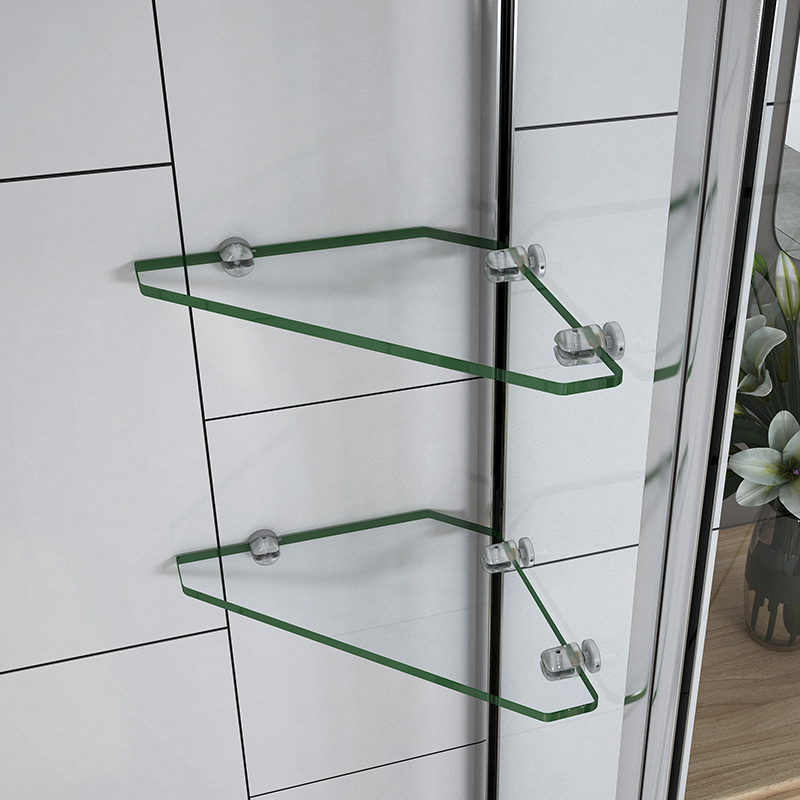 1000x1400mm Chrome 240 176 Pivot Bath Shower Screen With Glass