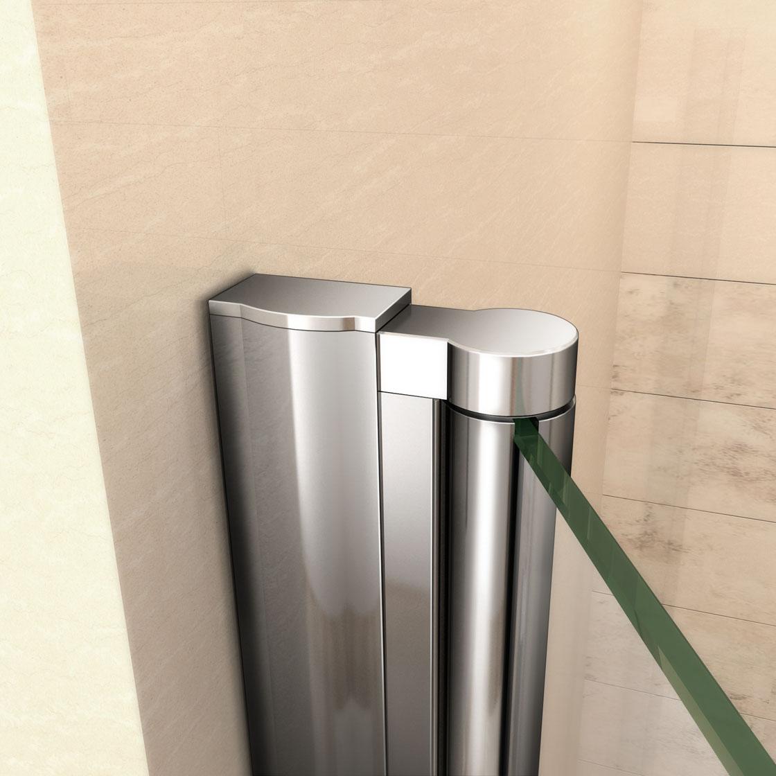 Aica frameless double bi fold shower door enclosure tray for 1000 bifold shower door