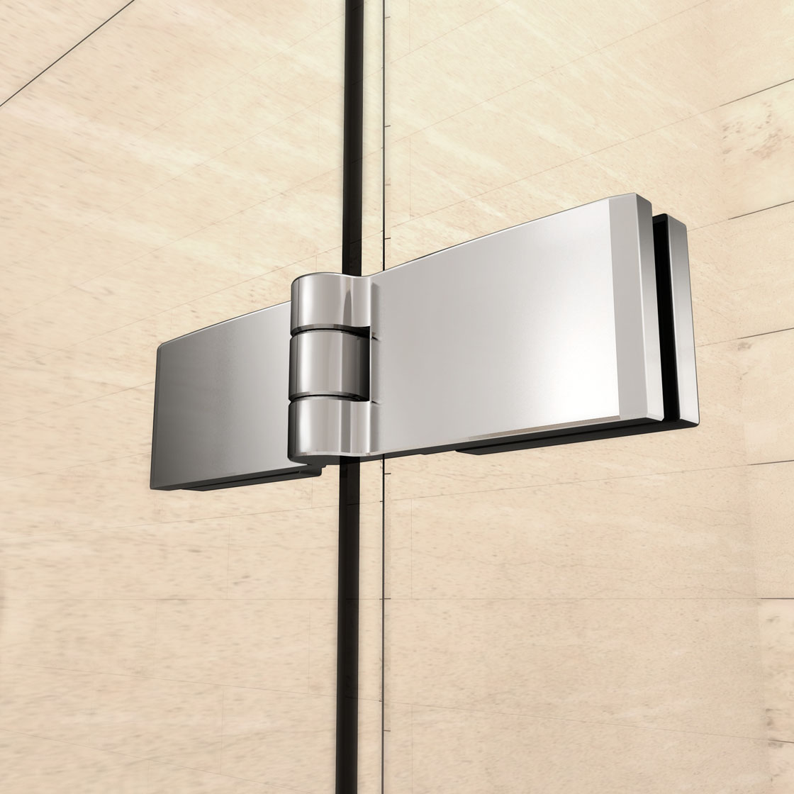 Aica Frameless Pivot Bi Fold Shower Door Enclosure Glass Screen 700