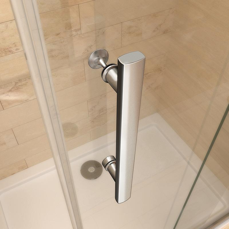 Aica Frameless Double Bi Fold Shower Door Enclosure Tray 700 760 800 900 1000mm Ebay
