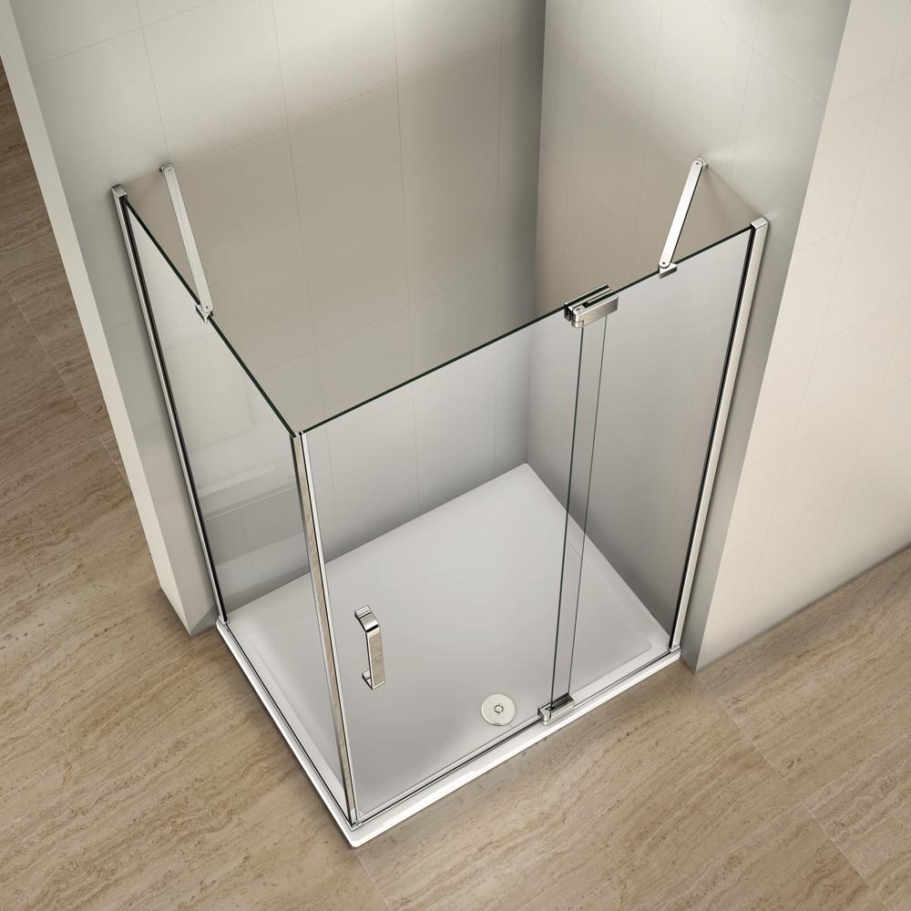 Frameless Pivot Hinge Shower Door Enclosure Amp Tray 8mm
