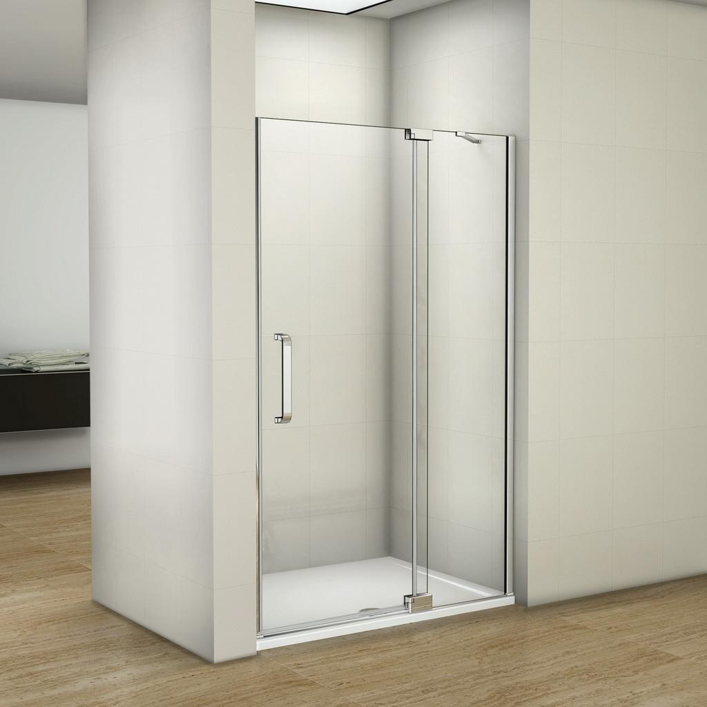 Safety Screen Door >> Frameless Pivot Shower Door Walk In Glass Screen Reversible 700 760 800 900 1000   eBay