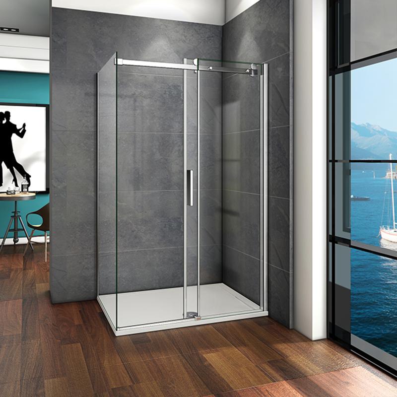 1000 1100 1200 1400mm Wide Shower Sliding Doors Frameless