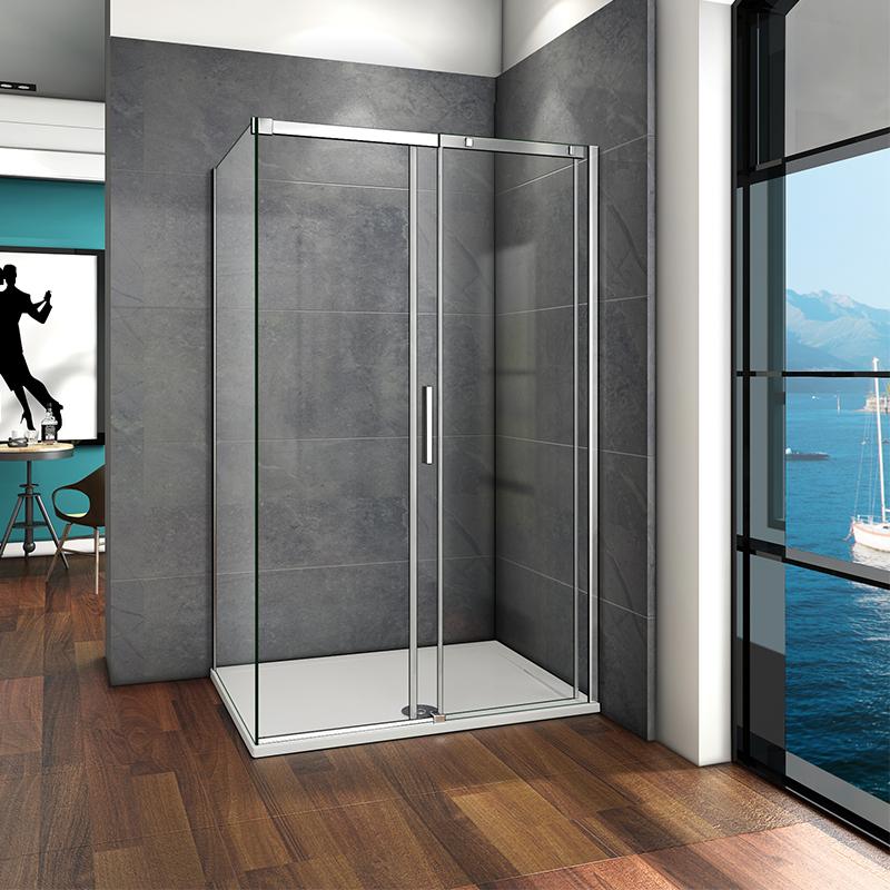 Wet Room Shower Door With Side Panel