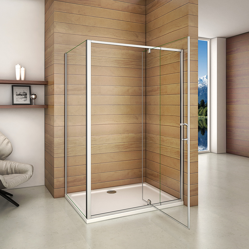 Pivot Hinge Door Shower Enclosure And Tray Screen Flexible