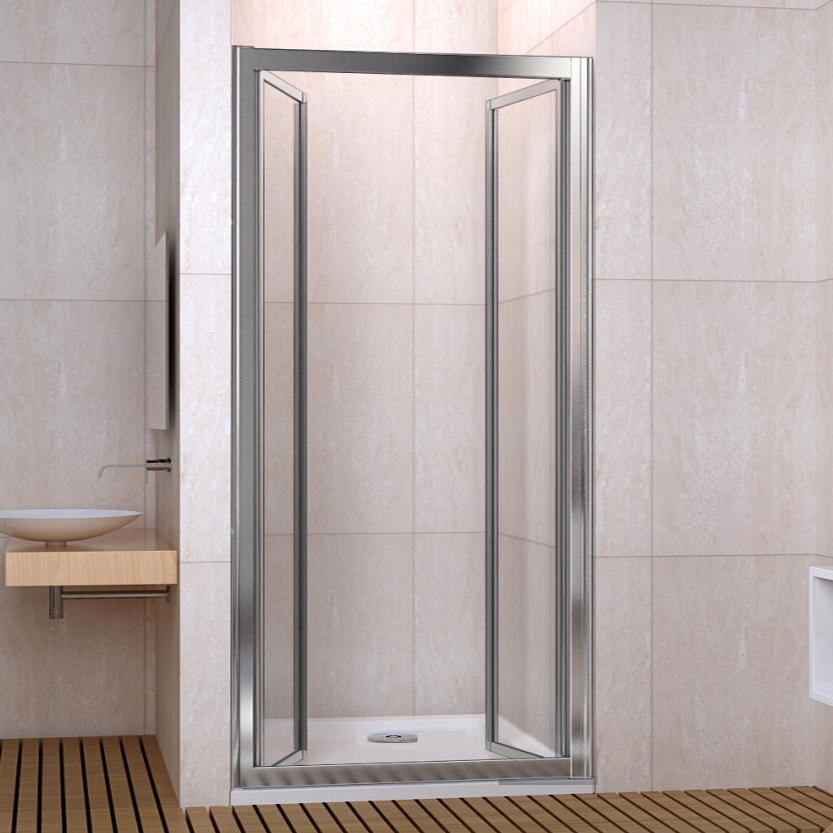 Pivot Shower Enclosure Double Door Cubicle Glass Screen