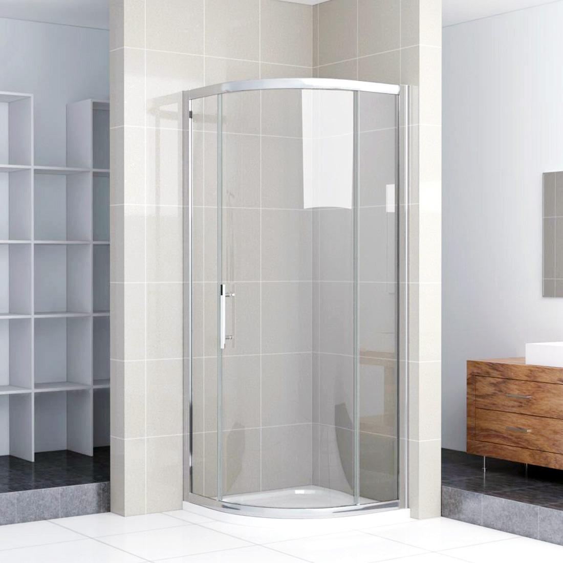 Offset Quadrant Shower Enclosure Amp Tray Corner Cubicle