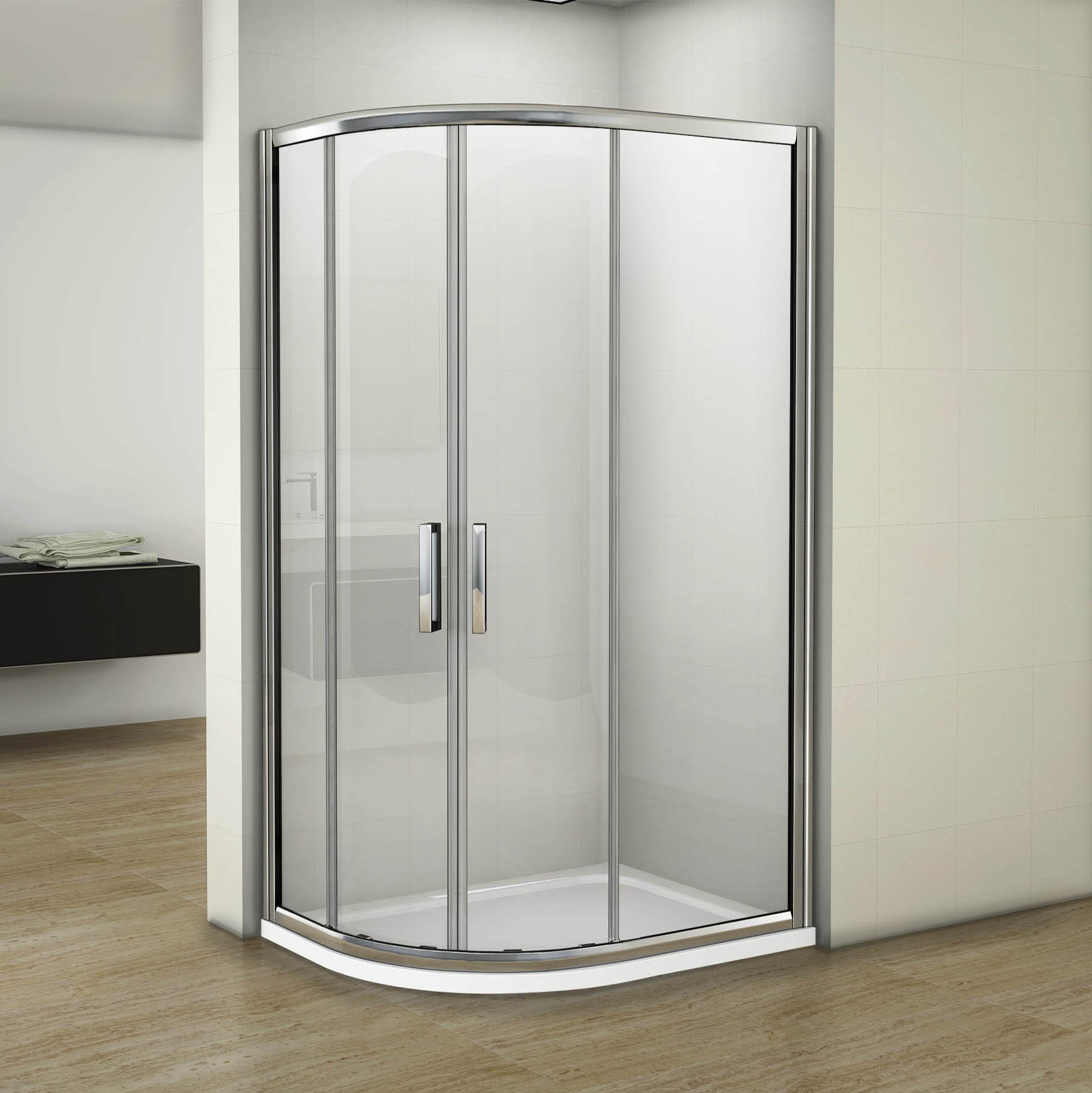 Luxury Quadrant Shower Enclosure Easy Clean 8mm Glass