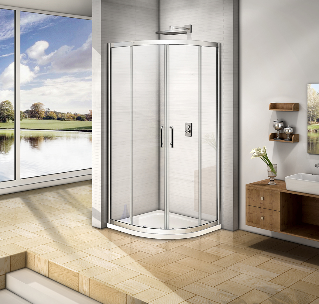 900x900mm Quadrant Shower Enclosure 6mm Glass Corner Cubicle Screen ...