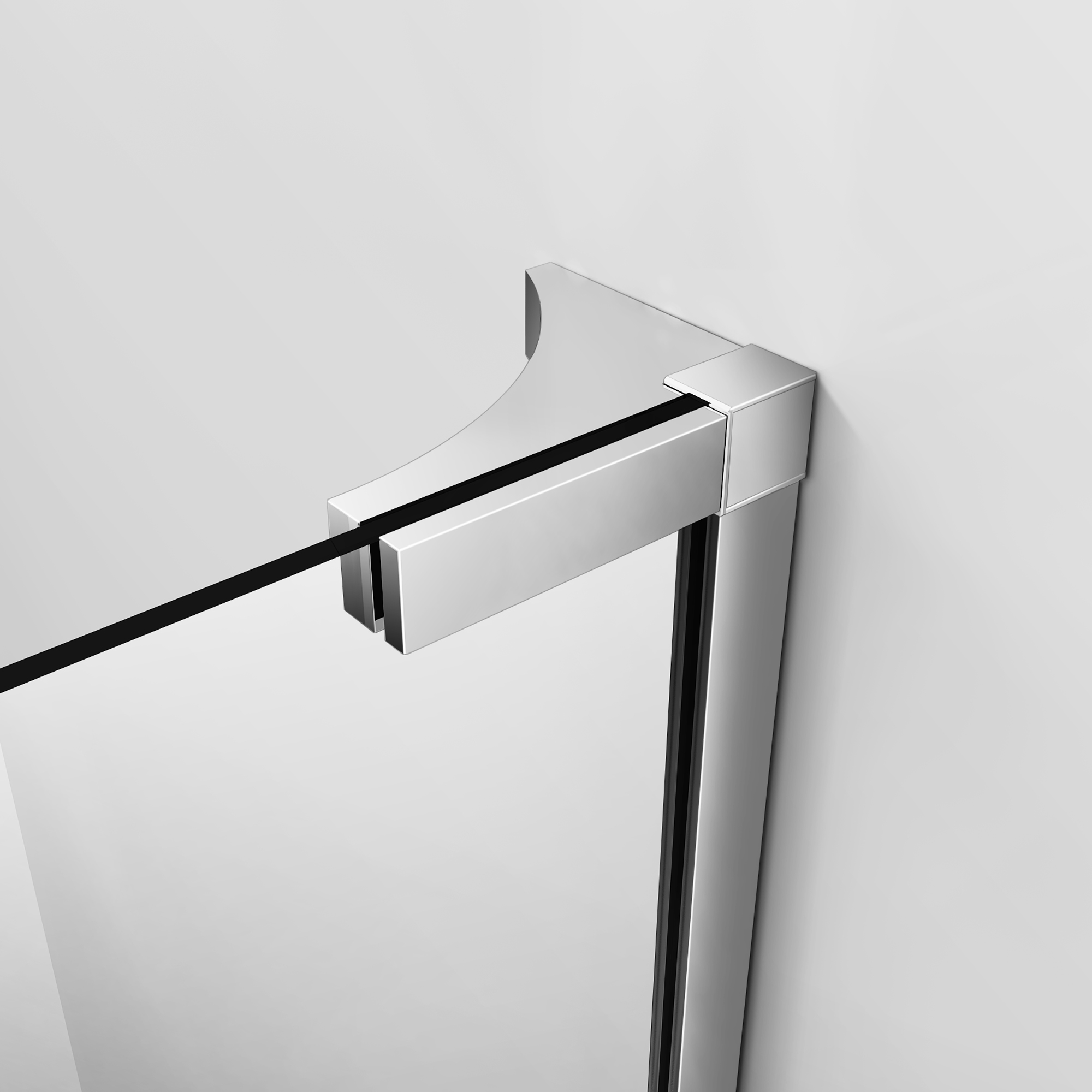 L Shape Wet Room Shower Enclosure Walk In Glass Cubicle